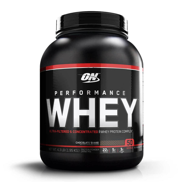 Optimum Nutrition Sports Nutrition & More Chocolate Shake Optimum Nutrition Performance Whey 50 Servings (581331910700)
