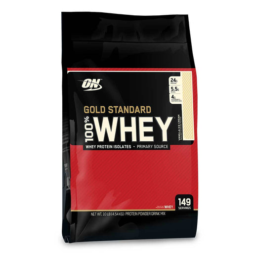 Optimum Nutrition Sports Nutrition & More Vanilla Optimum Nutrition 100% Whey Protein Gold 10 lbs (580616224812)