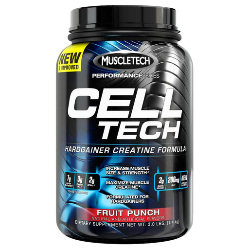 MuscleTech Sports Nutrition & More Fruit Punch MuscleTech Cell-Tech 3 Lbs (581590024236)