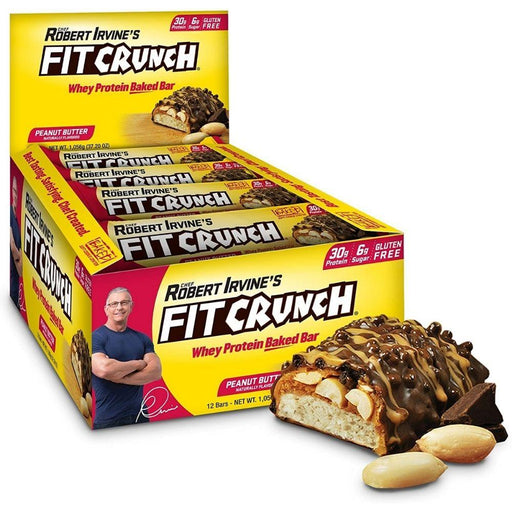 FortiFX Sports Nutrition & More Peanut Butter Chef Robert Irvine Fit Crunch Bars 12/Box (581963415596)
