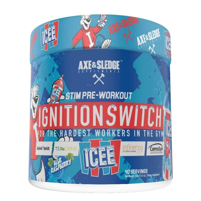 AXE & SLEDGE Sports Performance Recovery Icee Blue Raspberry Axe & Sledge Ignition Switch 40 Servings