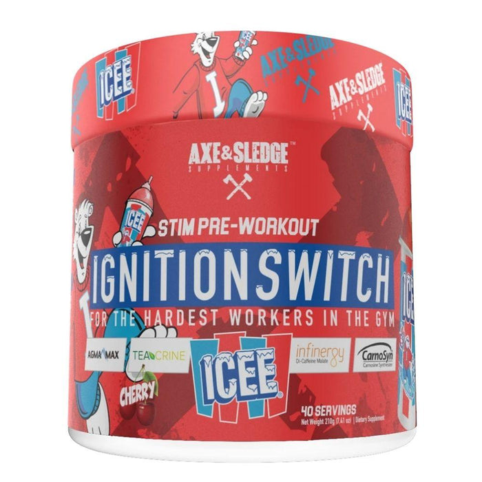 AXE & SLEDGE Sports Performance Recovery Icee Cherry Axe & Sledge Ignition Switch 40 Servings