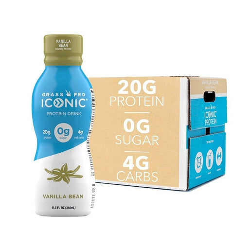 Iconic Protein Drinks Vanilla Bean Iconic Protein 12/case