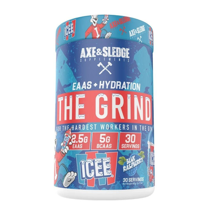 AXE & SLEDGE Amino Acids ICEE BLUE RASPBERRY Axe & Sledge The Grind 30 Servings