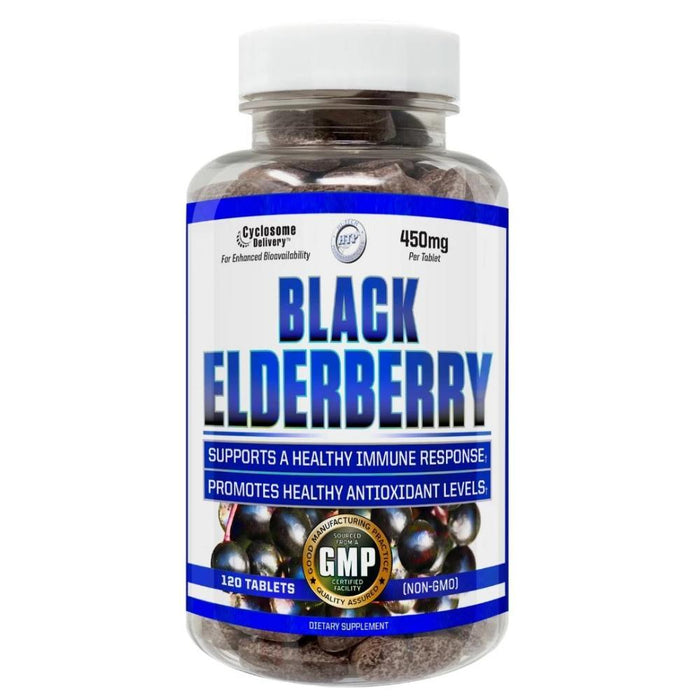 Hi-Tech Pharmaceuticals Herbs Hi-Tech Pharmaceuticals Black Elderberry 120T (4406617538675)
