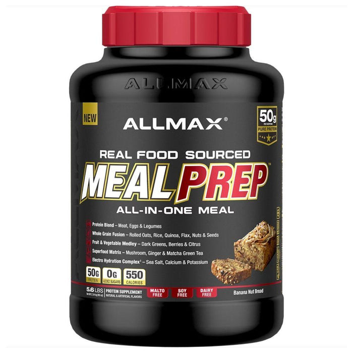 Allmax Nutrition Meal Replacement Powders Banana Nut Bread Allmax Meal Prep Real Food Meal Replacement 5.6lbs (4575161286771)