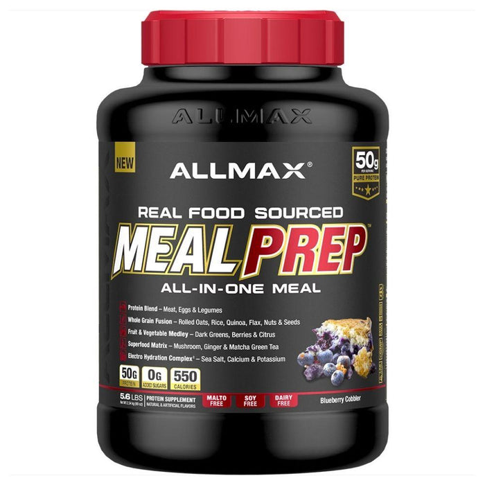 Allmax Nutrition Meal Replacement Powders Blueberry Cobbler Allmax Meal Prep Real Food Meal Replacement 5.6lbs (4575161286771)