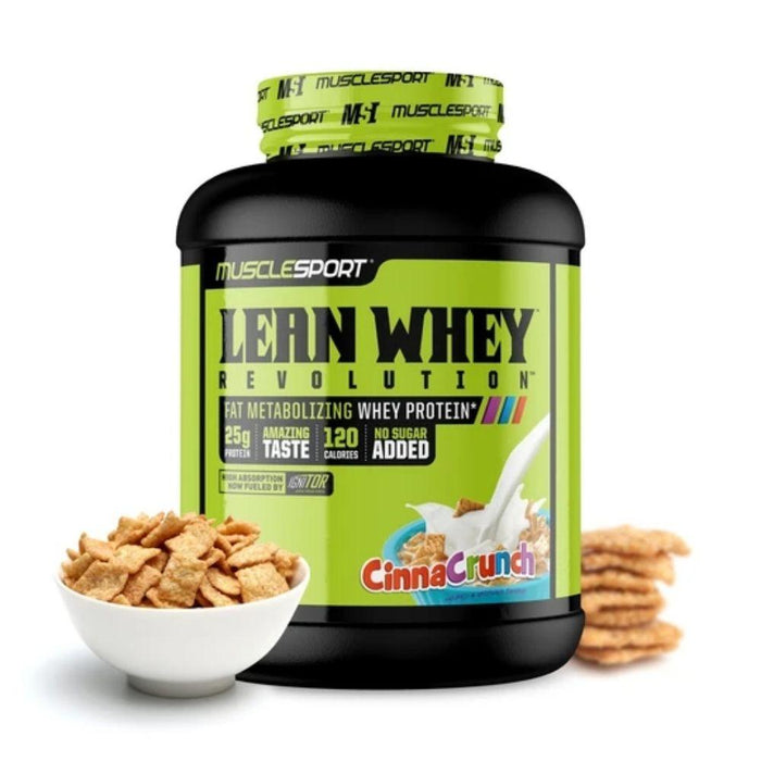 Muscle Sport Protein Powders Cinna Crunch Muscle Sport Lean Whey Revolution 5lb (4589540999283)
