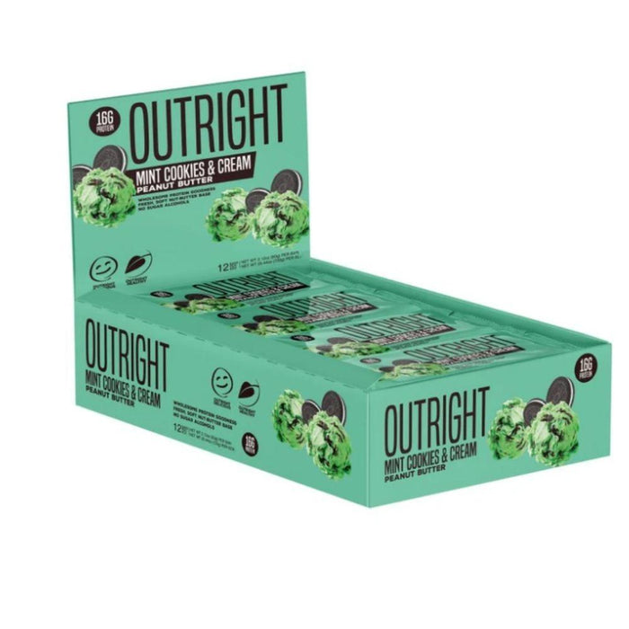 MTS Nutrition Bars Mint Cookies and Cream Peanut Butter MTS OUTRIGHT BAR 12/BOX (3899430764588)