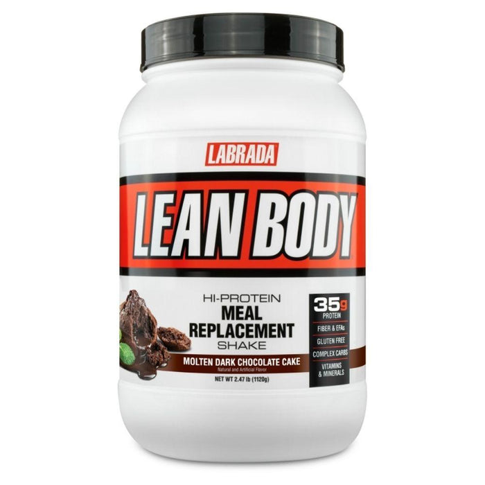 Labrada Nutrition Protein Powders Molten Dark Chocolate Cake Labrada Lean Body 2.47lb (4593221763187)
