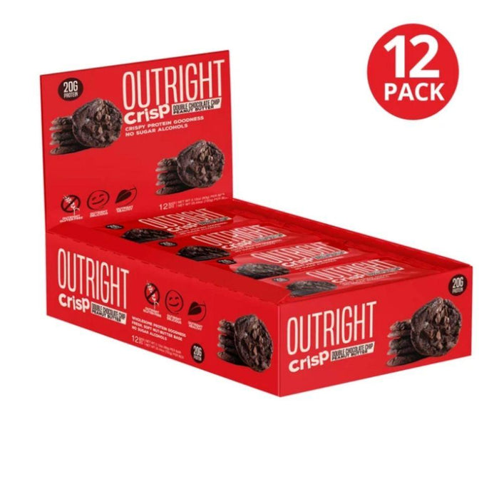 MTS Nutrition Bars Crisp Double Chocolate Chip Peanut Butter MTS OUTRIGHT BAR 12/BOX (3899430764588)
