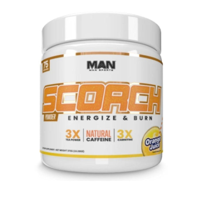 MAN Fat Burner Orange Juice MAN Scorch 75 Servings (4544994639987)