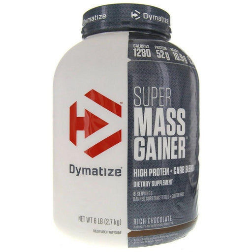 Dymatize Protein Powders Rich Chocolate Dymatize Super Mass Gainer 6 Lbs (581863047212)