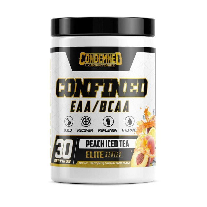 Condemned Labratoriez Amino Acids Peach Iced Tea Condemned Confined EAA/BCAA 30 Servings (4535914692723)