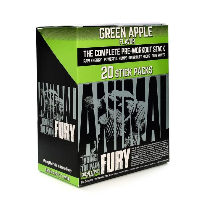 Universal Pre-Workouts Green Apple Animal Fury 20/Sticks