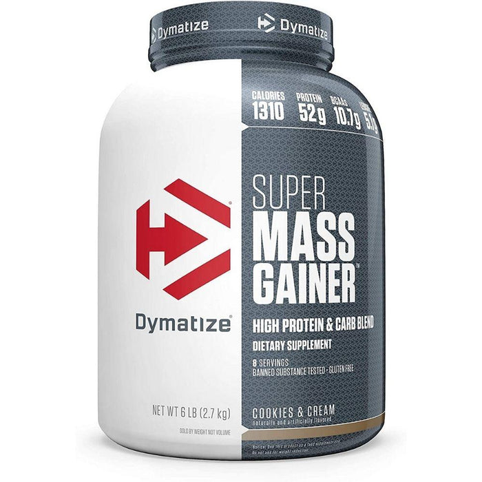 Dymatize Protein Powders Cookies and Cream Dymatize Super Mass Gainer 6lbs (1871525609516)