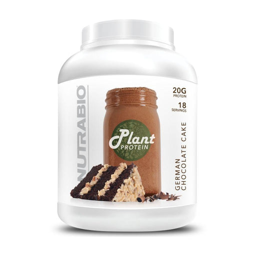 NutraBio Prohormones German Chocolate Cake NutraBio Plant Protein 18 Servings