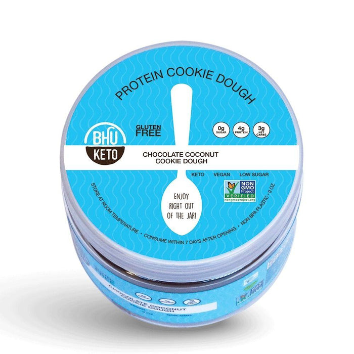 Bhu Foods Juices Chocolate Coconut Cookie Dough BHU Keto Cookie Dough 10oz (4595128139891)