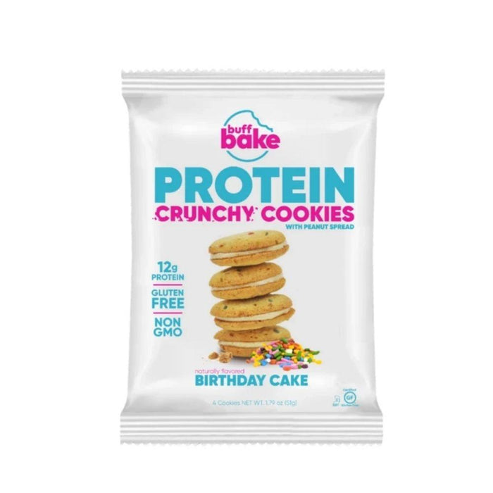 Buff Bake Foods Juices Birthday Cake Buff Bake Crunchy Protein Cookies 8 Pack (4591474868339)