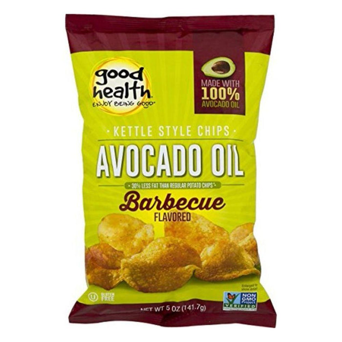 Good Health Natural Foods Fat Burner Avocado Oil BBQ Good Health Natural Foods Kettle Chips 30/Bags (4595125747827)