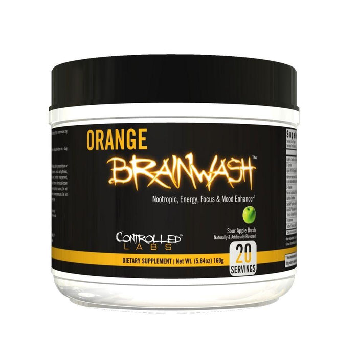 Controlled Labs Specialty Health Products Sour Apple Rush Controlled Labs Orange BrainWash 20 Servings