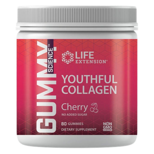 Life Extension Personal Care& - Hygeine LE Gummy Youthful Collagen Cherry 80 gummies (4559255011443)