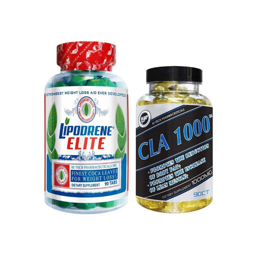 Best Price Nutrition Hi-Tech Pharmaceuticals Lipodrene Elite & CLA Stack (4564357382259)