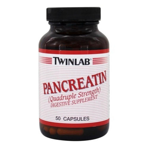 Twinlab Digestive Health Default Twin Lab Pancreatin 500mg 50 Capsules