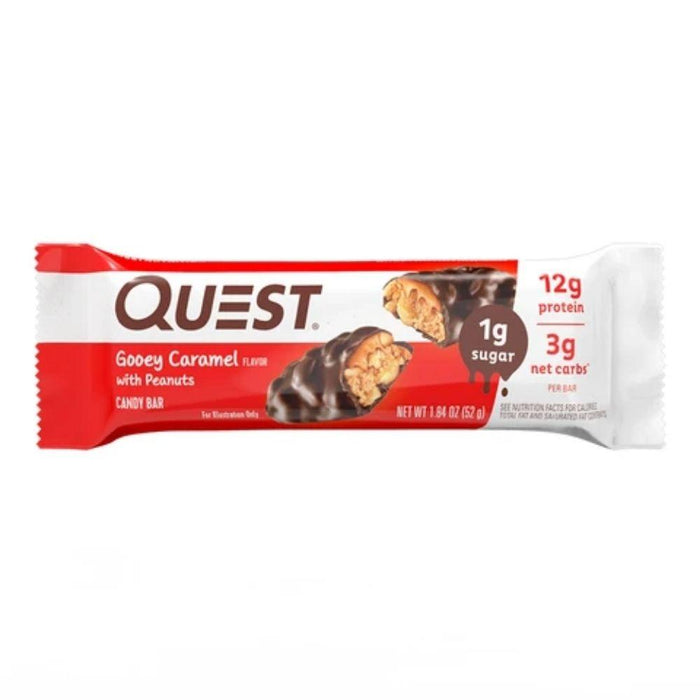 Quest Nutrition Bars Quest Gooey Caramel with Peanuts Candy Bars 12/Box