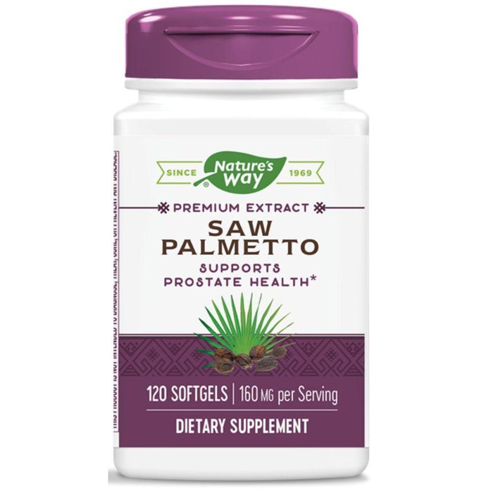 Enzymatic Therapy Vitamins, Minerals, Herbs & More Nature's Way Super Saw Palmetto 120 Softgels (580634378284)