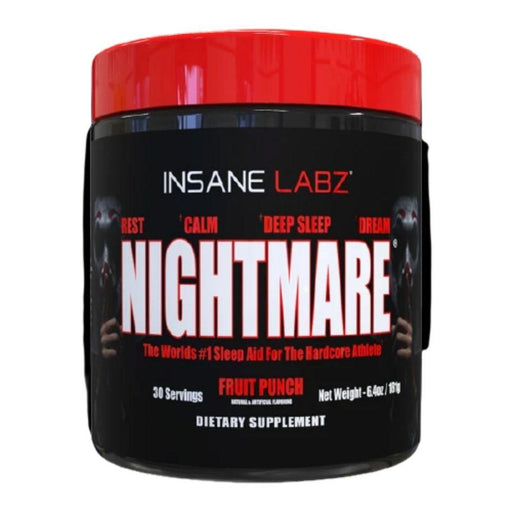 Insane Labz Specialty Health Products Fruit Punch Insane Labz Nightmare Sleep Aid 30 Servings (4596909736051)