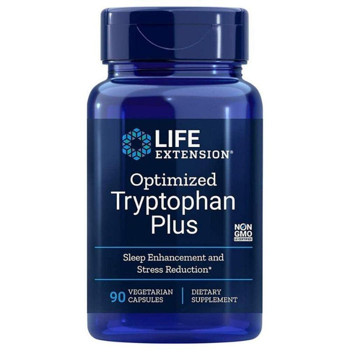 Life Extension Amino Acids Life Extension Optimized Tryptophan Plus 90 Capsules (4527063597171)