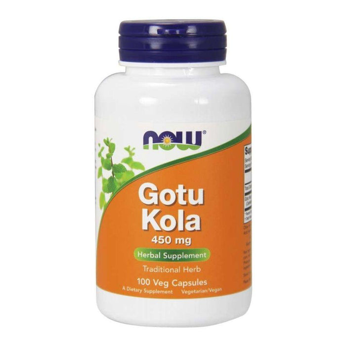 Now Foods Vitamins, Minerals, Herbs & More Now Foods Gotu Kola 450 Mg 100 Capsules (582174736428)