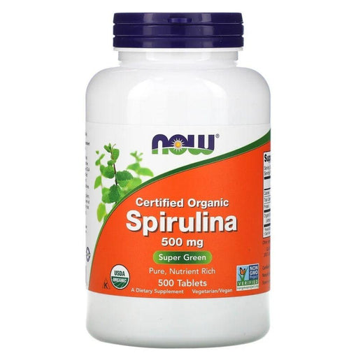 Now Foods Organic Spirulina 500mg 180 Tablets