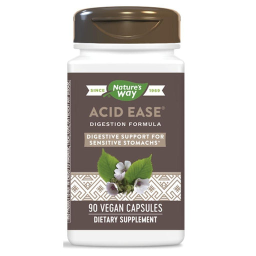 Enzymatic Therapy Vitamins, Minerals, Herbs & More Nature's Way Acid Ease Digestion Formula 90 Capsules (580856250412)