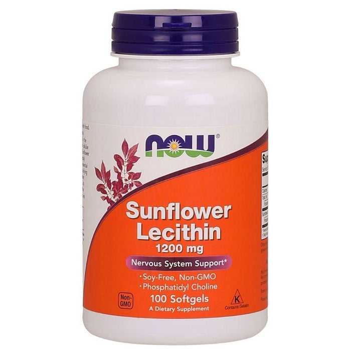 Now Foods Specialty Health Products Default Now Foods Sunflower Lecithin 1200mg 200 Softgels (1829077811244)