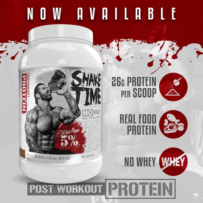 5% Nutrition Protein Powders 5% Nutrition Shake Time 25 Servings