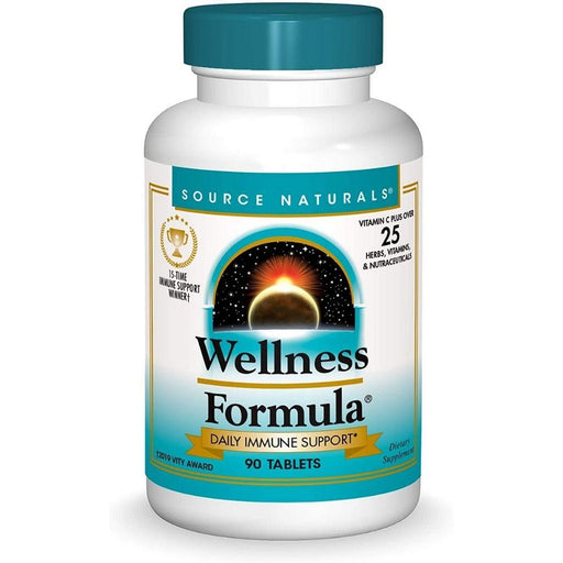 Source Naturals Vitamins, Minerals, Herbs & More Source Naturals Wellness Formula 90 Capsules