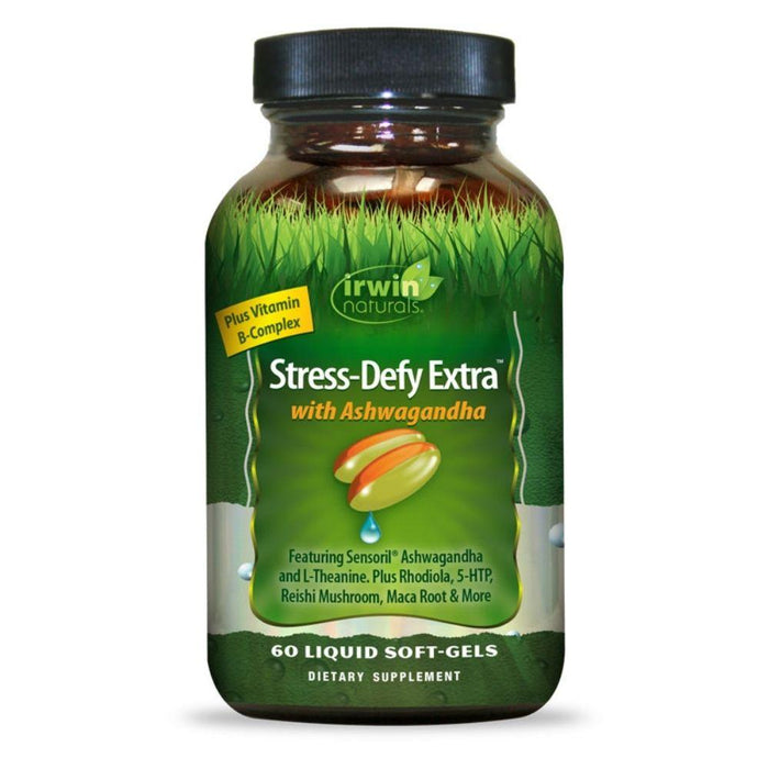 Irwin Naturals Specialty Health Products Irwin Naturals Stress-Defy Extra 60 Softgels (4360273526899)