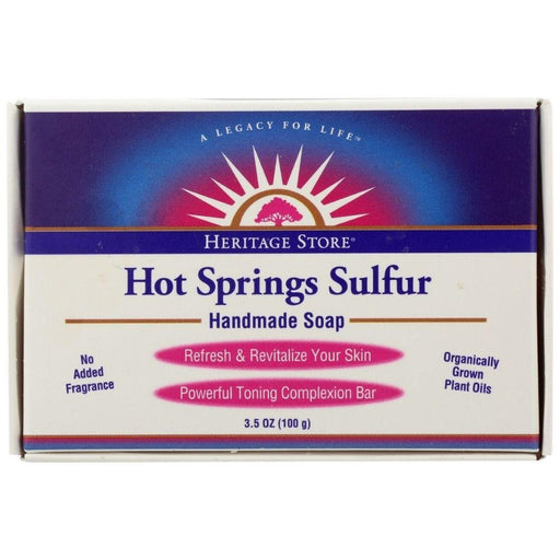 Heritage Store Personal CareHygeine Heritage Store Hot Springs Sulfur Soap 3.5oz 100g
