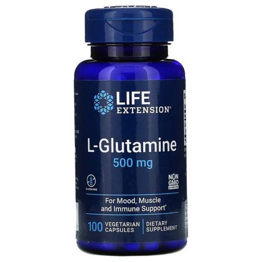 Life Extension Sports Nutrition & More Life Extension L-Glutamine 500mg 100 Caps