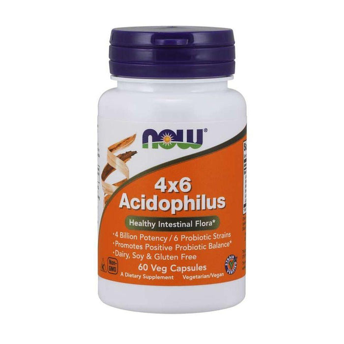 Now Foods Digestive Health Default Now Foods 4x6 Acidophilus Probiotic 60 Capsules (1815843176492)