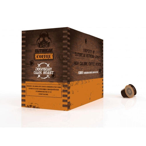 Outbreak Drinks Outbreak Ashwagandha Enriched Coffee Doomsday Dark Roast Coffee 24 K Cups (4555668291699)