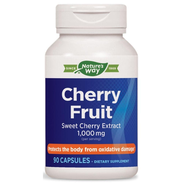 Enzymatic Therapy Vitamins, Minerals, Herbs & More Nature's Way Cherry Fruit Extract 1,000mg 90 Capsules (580620189740)
