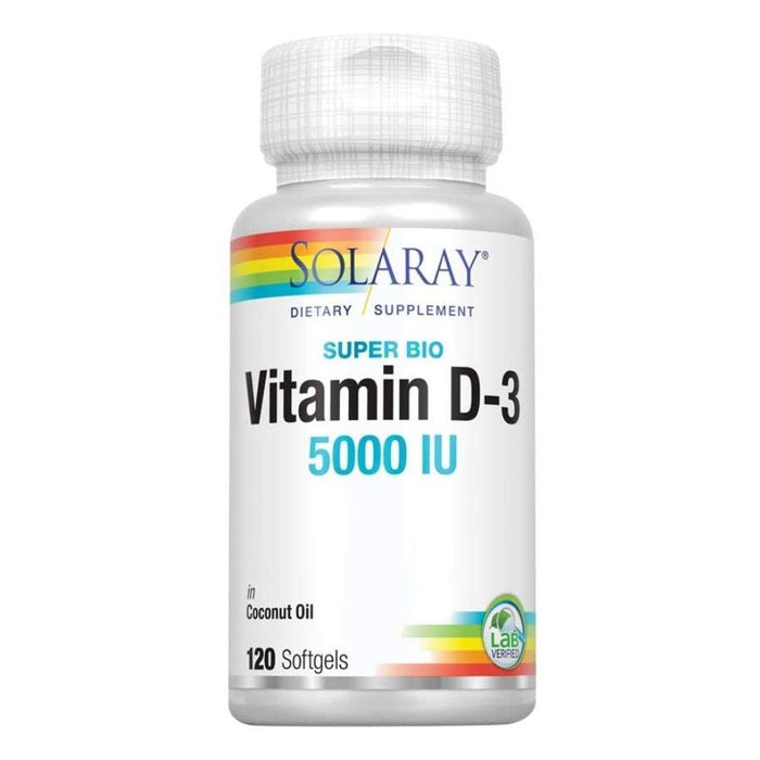 Solaray Vitamins & Minerals SOL Vitamin D3 5000iu 120SG in Coconut Oil (4602784088179)