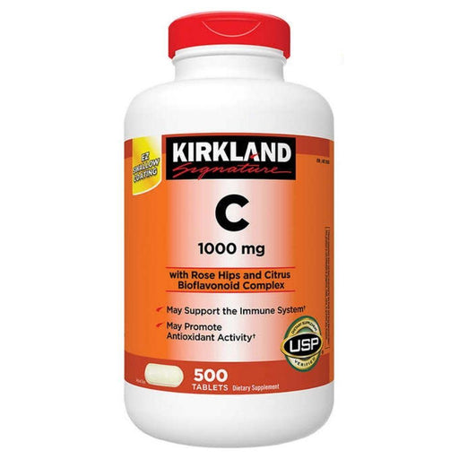 Kirkland Signature Kirkland Vitamin C 1,000mg 500 Tablets (4609016168563)