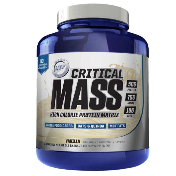 Hi-Tech Pharmaceuticals Protein Powders Vanilla Hi-Tech Pharmaceuticals Critical Mass 5lb (4438025896051)