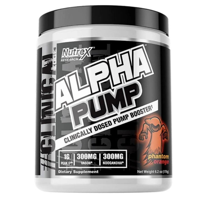 Nutrex Research Pre-Workouts Phantom Orange Nutrex Research Alpha Pump 20 Servings (4293789089836)