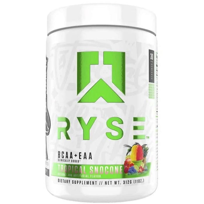 Ryse Supplements Amino Acids Tropical Snowcone Ryse BCAA + EAA 30 Servings (4472453267571)