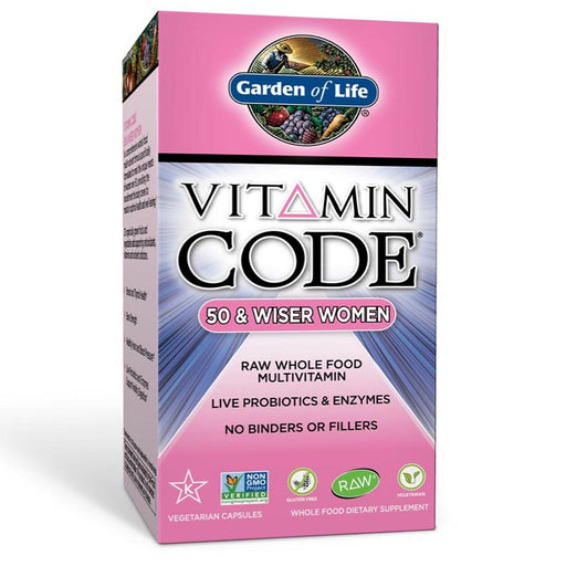 Garden of Life Vitamins, Minerals, Herbs & More Garden of Life Vitamin Code 50 and Wiser Womens Formula 120ct (581187928108)